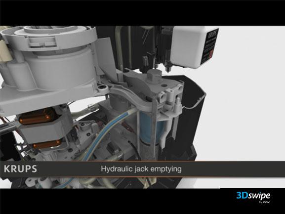 3D interactive du démonstrateur Krups Expresso