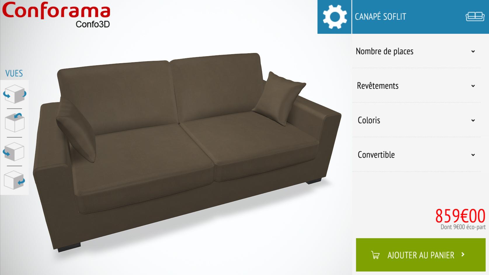 Image canapé confo3D conforama