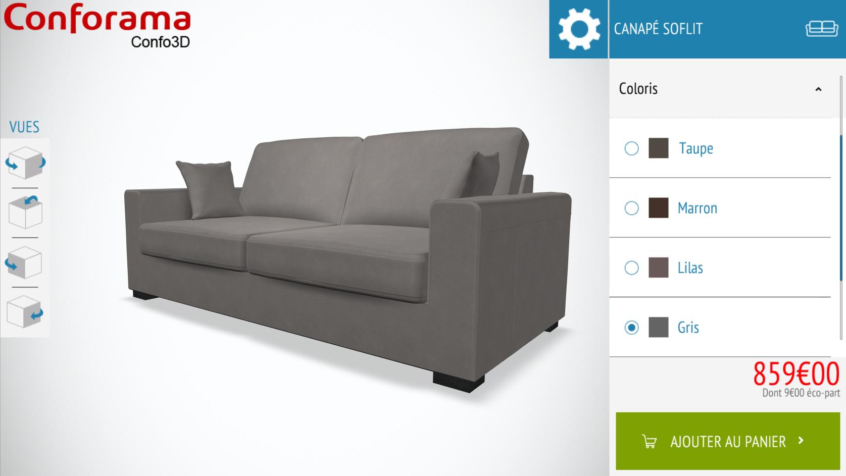 Image canapé conforama 3D