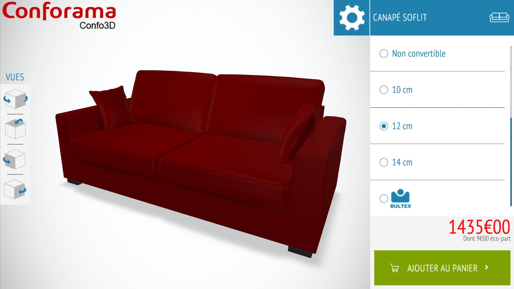Photo canapé conforama Confo3D