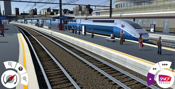 Simulateur 3D parvis SNCF 3DSwipe
