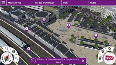 3DSwipe - Vue aérienne en 3D Gare de Dijon pour la SNCF