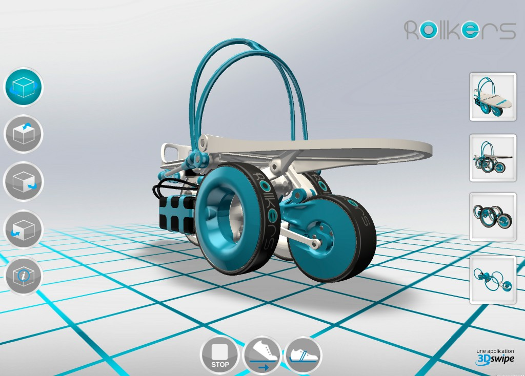Vue 3D du démonstrateur Rollkers