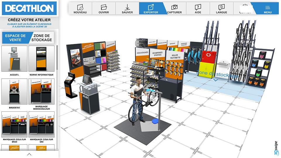 Atelier 3Dswipe Decathlon