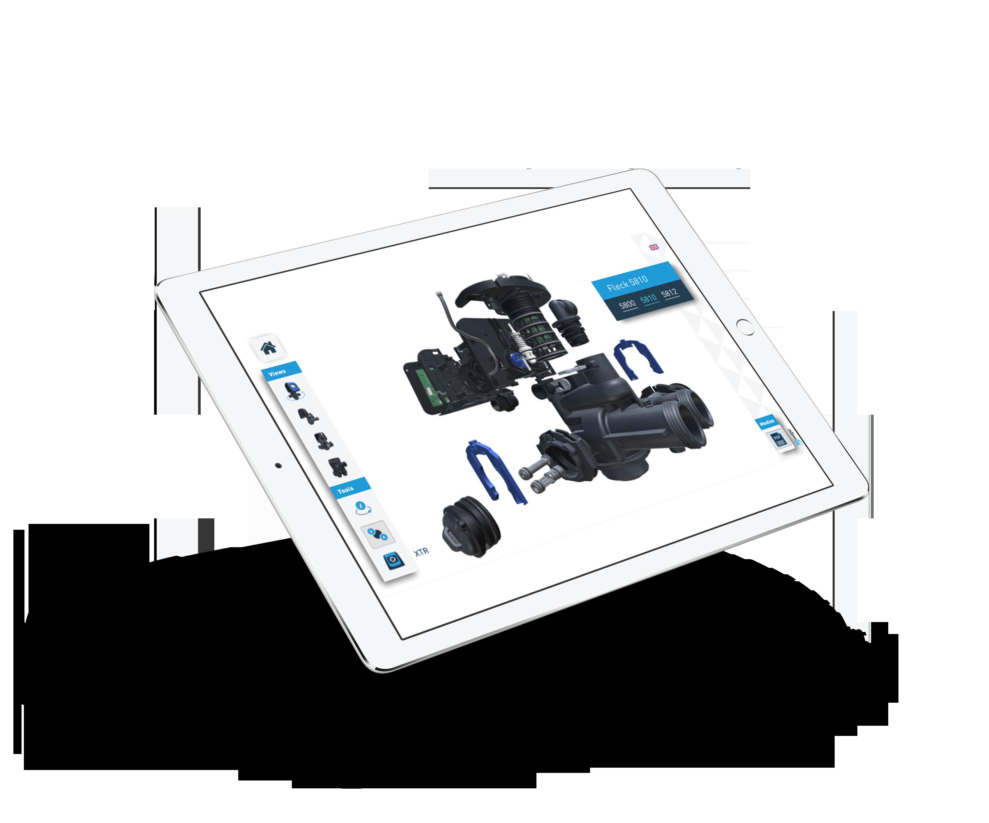 Demonstrateur 3Dswipe Pentair